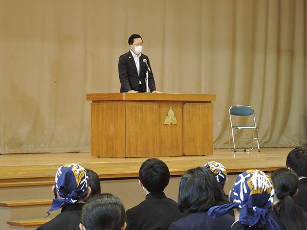 知事講演会の様子2